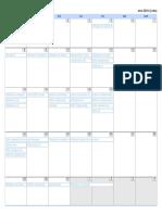 cronograma calendario