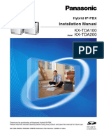 Installation Manual Panasonic PABX