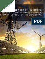 Oportunidades en el nuevo mercado de energías limpias para el sector residencial