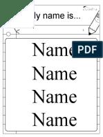 Free_Editable Name Tracing