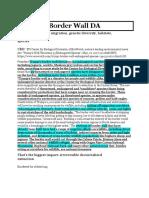 Border Wall DA