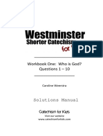 Woorkbook Westminster  Shorter Catechism