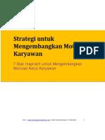 Strategi Pengembangan Motivasi Karyawan