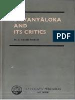 Dhvanyaloka and It Critics Krishnamoorthy K._text