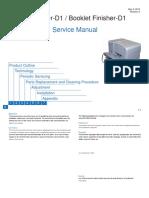 Staple Finisher-D1 Booklet Finisher-D1 SM Rev0 050110