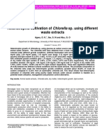 Heterotrophic Cultivation of Chlorella Sp. Using Different Waste Extracts
