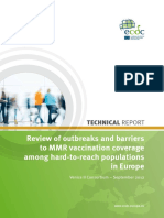 MMR Vaccination Hard to Reach Population Review 2013