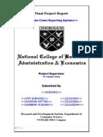 Online Crime Report Final documentation
