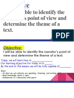point of view and theme