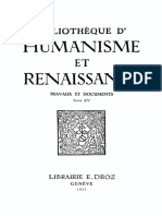 BIBLIOTHEQUE D'HUMANISME ET RENAISSANCE TOME XV NOS. 1-3 1953.pdf