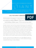 Brilliant 2018 Call to Artists