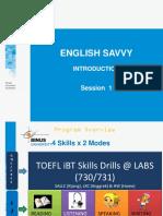 English Savvy - Sesi 1