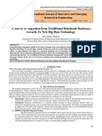 FinalPaperA Survey of Migration From Traditional Relational Databases Towards to New Big Data Technology