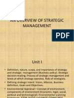 An Overview of Strategic Management