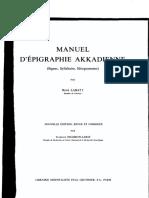 Labat R.- Manuel d'Epigraphie Akkadienne, 5 Ed (1976)