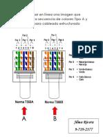 Colores Tipo a y Tipo B Para Cableado Estructurado