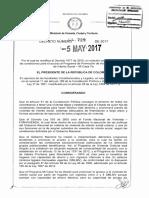 Decreto 729 Del 05 de Mayo de 2017