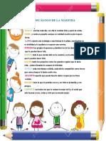 Decálogo de La Maestra 1