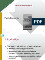 10 Fiscal Federalism
