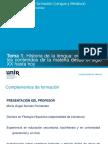 Presentación_Complementos para la formación disciplinar de Lengua Castellana y Literatura