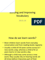 Building and Improving Vocabulary Upper KS2