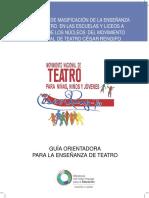 Guia Orientadora Para La Enseñanza Del Teatro