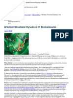 Ultrafast Structural Dynamics of Bio Molecules