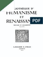 BIBLIOTHEQUE D'HUMANISME ET RENAISSANCE TOME XVI NOS. 1-3 - 1954.pdf