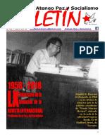 Boletin del Ateneo Paz y Socialismo de abril de 2018