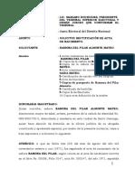 Rectificacion de Acta Ramona Del Pilar Almonte 1