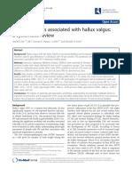 Gait Parameters Associated With Hallux Valgus