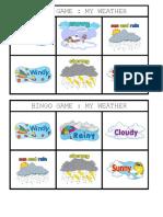 Bingo Game - My Weather