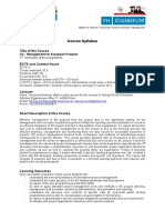 Syllabus Management of European Projects Abstract
