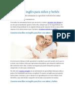 Cuentos en Inglés Largos Para Niños y Bebés