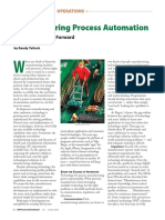 Bioprocess International January 2012 Manufacturing Process Automation Finding a Pathway Forward