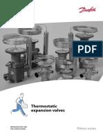 Valvulas de Expansion Termostaticas CATALOGO DANFOSS