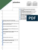 Cronograma - I Congreso Virtual de RSE - Rumbo a una gestión integral en las organizaciones