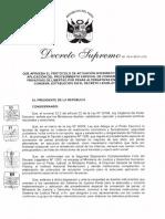DS 014 2017 JUS Protocolo de Actuacion Interinstitucional Para La Aplicacion Del Procedimiento Especial de Conversion de Penas Privativas de Libertad Por Penas Alternativas en Ejecucion de Condena