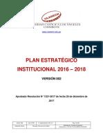 Plan Estrategico Institucional 2016 2018 v002