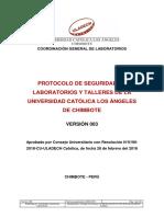 Protocolo Seguridad Laboratorios Talleres Uladech Catolica v003