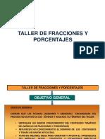 Presentacion Estructura Del Taller Fracciones y Porcentajes