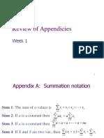 Wk 1 Appendix Review