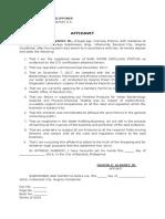 Affidavit Water REfilling