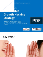 [HANDOUT] Unbeatable Growth Hacking Strategy