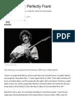Frank Zappa- Perfectly Frank - GW '99