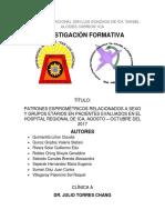 Patrones Espirométricos Relacionados a Sexo y Grupos Etarios en Pacientes Evaluados en El Hospital Regional de Ica, Agosto – Octubre Del 2017