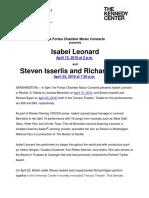 Isabel Leonard and Steven Isserlis