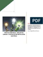 Práctica Individual. Análisis de Cargas y Costos de Una Instalación Eléctrica