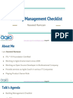Backlog Management Checklists by Naveed Ramzan
