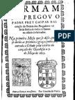 Sermão de Fr. Gaspar da Bahia de Todos os Santos, Slavador. Na primeira Missa de Graças Públicas pela derrota dos Holandeses (1625)